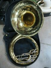 Yamaha Lacquered Brass BBb Sousaphone w case, serviced and ready to play.