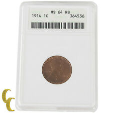 1914 Lincoln Wheat Cent (MS64RB ANACS) Philadelphia MS-64 Red-Brown Penny 1c