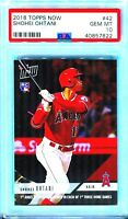 2018 Topps Now Shohei Ohtani Rookie #42 RC New Label PSA 10 QUANTITY DISCOUNT!