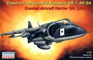 Hawker Harrier GR.1 V/stol Attack aircraft  US Navy 1/72 Ark model ex Frog