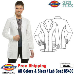 Dickies Scrubs GEN FLEX Women's Youtility Button Front 32 Inch Lab Coat 85400