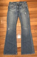 BKE Womens Culture Stretch Distressed Boot Cut Jeans 29 X 33 1/2 Pre-owned