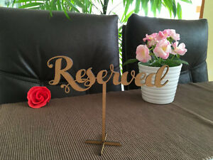 Reserved Sign Wedding Reception Wooden Table Seating Signs Freestanding Rustic