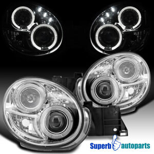 For 2002-2003 Subaru Impreza WRX RS LED Dual Halo Projector Headlights