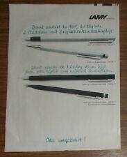 Seltene Werbung LAMY CP1 Füllhalter Druckbleistift Kugelschreiber #2 1978