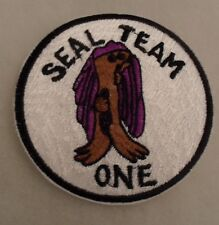 """1970'S ASIAN EMBROIDERED VARIANT """"SEAL TEAM ONE"""" JACKET PATCH CE 3 1/2"""" DIAMETER"""