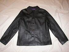Women's Mossimo Blak Leather Jacket - Size S
