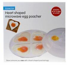 Eddingtons Microwave Heart Shaped Egg Poacher for 4 Eggs