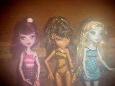 Monster High Dolls   DRACULAURA   LAGOONA BLUE   &   CLEO de NILE    Mattel
