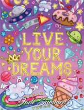 Positive Kawaii Messsages Adult Colouring Book Inspirational Quotes Words Dreams