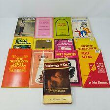 Vintage Smut Paperback Lot of 13 Books Erotica Pulp Playboy Asimov 1950s - 1970s