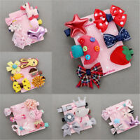 6Pcs/set Cute Hairpin Baby Girl Hair Clip Bow Flower Barrettes Star Kids Infant