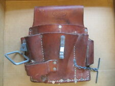 Lineman BOLEN S4868 Leather Electricians Tool Belt Pouch Bag Repair Handyman Kit