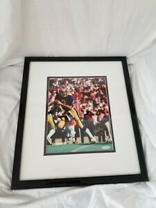 Dan Marino Signed 8x10 Pitt Panthers Photo Framed and matted Upper Deck COA