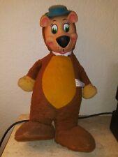 Antique 1959 YOGI BEAR Huckelberry Hound Plush Toy Rubber Face Knickerbocker