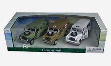 Cararama Modellauto Land Rover Militär / Military - 3er Set - 1:43 NEU in OVP