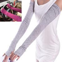 Handschuhe Fahrrad Golf Sport Armstulpen Handstulpen UV-Schutz Fingerlos Lang