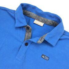 Napapijri Women's Long Sleeve Polo Jumper Shirt Blue • Size 12