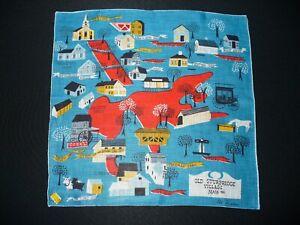 Artist Signed Hanky Handkerchief Pat Prichard Old Sturbridge Village Colorful