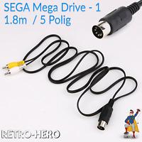AV Chinch Kabel für Sega Mega Drive 1 / I / MD1 TV Anschluss