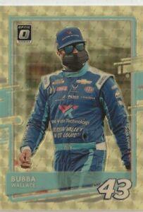 2021 DONRUSS OPTIC NASCAR GOLD BUBBA WALLACE 1/1 ONLY 1