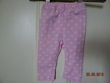 George Baby Girls Pink Leggings With White Butterflies 3-6M Cotton