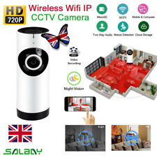 WiFi Wireless Panoramic Home Camera HD CCTV Night Vision System Security Network