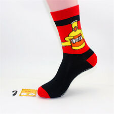 1Pair Random Mens Cotton Socks Warm The Simpsons Cartoon Casual Dress Socks 7-12