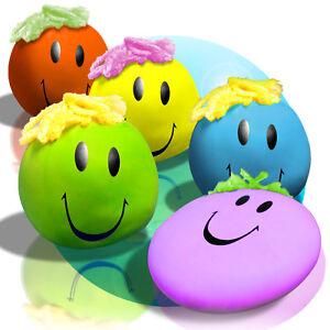 1x oder 6x Funny Faces Wutball Anti Stress Ball in verschiedenen Farben ca. 8 cm