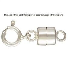 Sterling Silver Magnetic Magnet Clasp & 1 Sterling Heart EXTENDER Findings 925