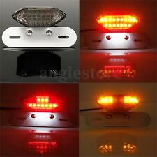 Motorcycle Bike LED Tail Turn Signal Brake License Plate Integrated Light 12V