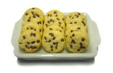 12  Chocolate Chip on Tray Dollhouse Miniatures Mini Food Bakery