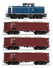 Roco 51299-3 H0 Diesellok BR 211 mit 3 Güterwagen der DB ++ NEU ++