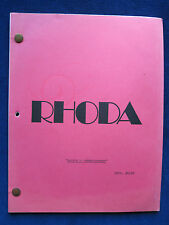 ORIGINAL SCRIPT for RHODA with VALERIE HARPER - 'Brenda's Unemployment' Episode