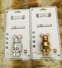 Medicom Bearbrick Action City x Robot White & Gold Hello Kitty Be@rbrick 100%