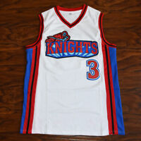Iverson Basketball Jersey Like Mike Movie Knights #3 Calvin Cambridge WHITE