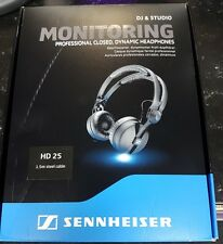 Sennheiser HD25 Professional DJ Headphones Black 1.5m Straight Cable