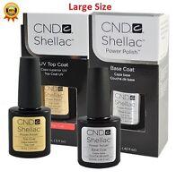 CND SHELLAC UV Gel Polish Base Coat, Top Coat or Duo 0.50oz US Best Deal