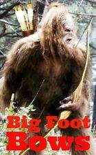 "3.25"" Sasquatch hunting vinyl bumper Sticker. Big Foot Bows Traditional Archery"