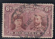 SG 176 RHODESIA 6d Brown & Malva. USATA una in perfetta condizione CD esempio GATTO £ 60