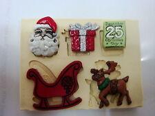 Sugarcraft Mold Mould  for sugarcake,Cupcake, Clay- Christmas #7