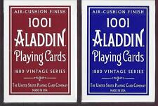 "2 DECKS Red-Blue Vintage 1001 Aladdin ""Dome Back"" playing cards ON SALE!"