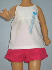 "New The Children's Place Size 9-12 Months Girl""s White Shirt and Pink Shorts Set"