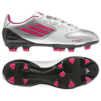 adidas F10 TRX FG Womens Soccer Shoes 2012 White / Silver / Pink Brand New