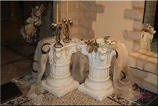 2 x Griechische Säule Antik Blumensäule Dekosäule Säulen Podest Kunstharz