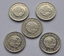 1990 Soccer Football World Cup Set of 5 Jettons Tokens