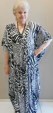 Long  Kaftan Dress Casual or dressy Grecian fall Boho Plus size 24-34 New Stock