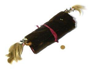19thC Brown Velvet Roll 24 Locks of Hair Mourning Piece Rambaut Family