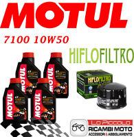 HUSQVARNA Nuda 900 2012 2013 KIT TAGLIANDO 4 LT MOTUL 7100 10W50 + FILTRO OLIO