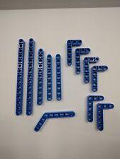 Lego Technic/Mindstorm ~ Mixed Lot Of Blue Lift Arms 12 pcs